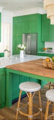 фото пример зеленого в интерьере 06.10.2019 №019 -green in the interior- design-foto.ru