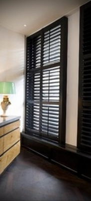 черные жалюзи в интерьере 19.09.2019 №008 — black blinds in the interior — design-foto.ru