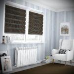 черные жалюзи в интерьере 19.09.2019 №059 - black blinds in the interior - design-foto.ru
