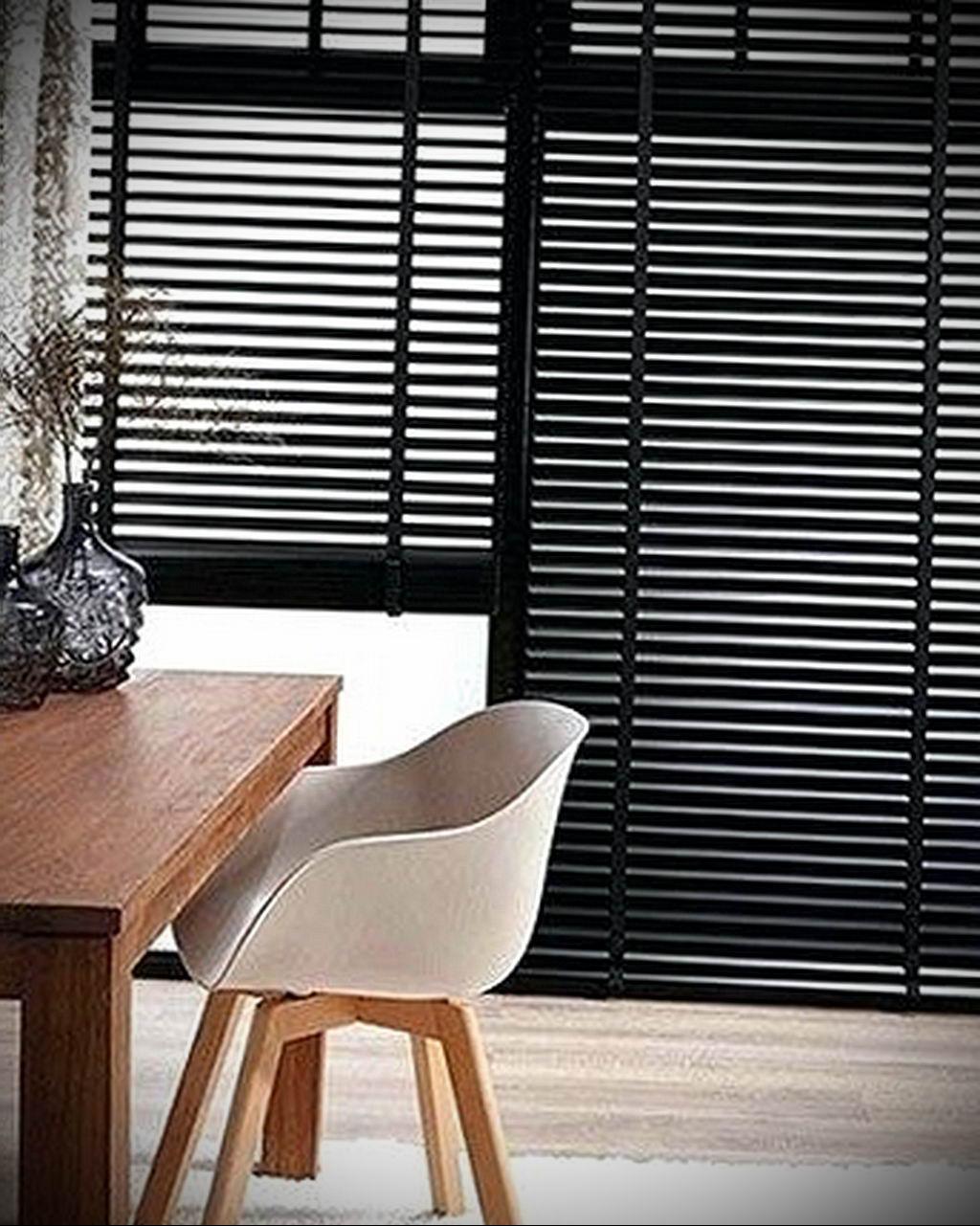 черные жалюзи в интерьере 19.09.2019 №063 - black blinds in the interior - design-foto.ru