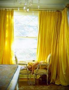 шторы желтого цвета в интерьере 09.10.2019 №013 -yellow in interior- design-foto.ru