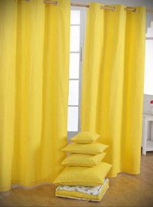 шторы желтого цвета в интерьере 09.10.2019 №014 -yellow in interior- design-foto.ru