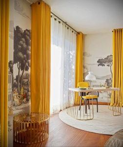 шторы желтого цвета в интерьере 09.10.2019 №025 -yellow in interior- design-foto.ru