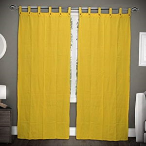 шторы желтого цвета в интерьере 09.10.2019 №026 -yellow in interior- design-foto.ru