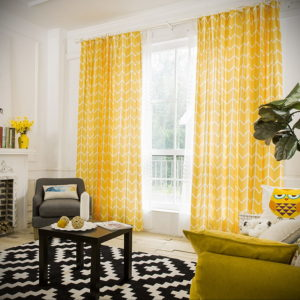 шторы желтого цвета в интерьере 09.10.2019 №029 -yellow in interior- design-foto.ru
