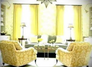 шторы желтого цвета в интерьере 09.10.2019 №057 -yellow in interior- design-foto.ru