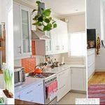 Фото Цветы в интерьере кухни от 26.09.2018 №002 - Flowers in the interior - design-foto.ru