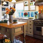 Фото Цветы в интерьере кухни от 26.09.2018 №142 - Flowers in the interior - design-foto.ru