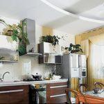 Фото Цветы в интерьере кухни от 26.09.2018 №198 - Flowers in the interior - design-foto.ru
