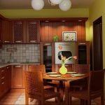 Фото Цветы в интерьере кухни от 26.09.2018 №243 - Flowers in the interior - design-foto.ru