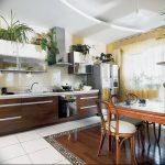 Фото Цветы в интерьере кухни от 26.09.2018 №267 - Flowers in the interior - design-foto.ru