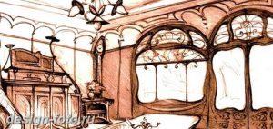 фото Стиль модерн в интерьере 21.01.2019 №086 - Art Nouveau in interior - design-foto.ru