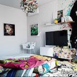 Фото Яркий стиль в интерьере 10.11.2018 №453 - Bright style in the interior - design-foto.ru