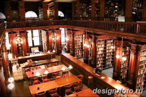 фото Интерьер библиотеки 28.11.2018 №035 - photo Library interior - design-foto.ru