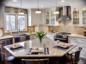 Фото бежевая кухня в интерьере 14.08.2019 №013 - beige kitchen in the inte - design-foto.ru