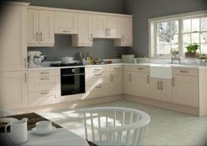 Фото бежевая кухня в интерьере 14.08.2019 №020 - beige kitchen in the inte - design-foto.ru