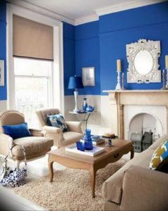 Фото бежево голубой интерьер 14.08.2019 №008 - beige blue interior - design-foto.ru
