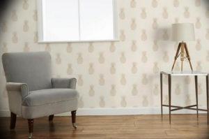 Фото бежевые обои в интерьере 14.08.2019 №012 - beige wallpaper in the int - design-foto.ru
