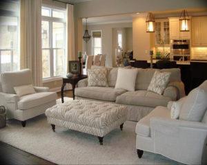 Фото бежевый диван в интерьере 14.08.2019 №004 - beige sofa in the interio - design-foto.ru